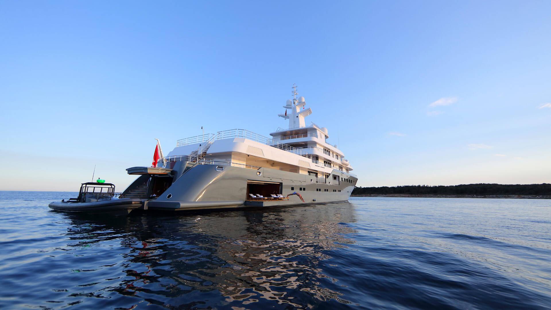 M Y Planet Nine Admiral Yacht Luxury Super Yacht